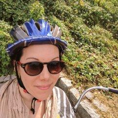 Biking in Vancouver.