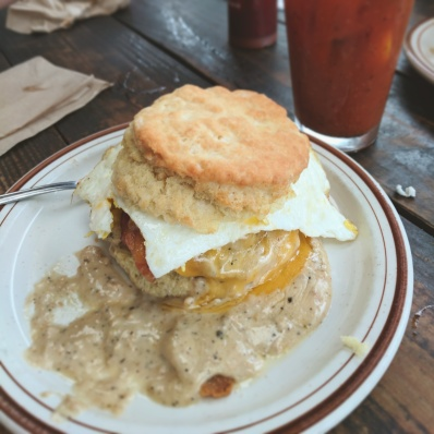 Breakfast Biscuit at Pine State Biscuits in Portland, Oregon.