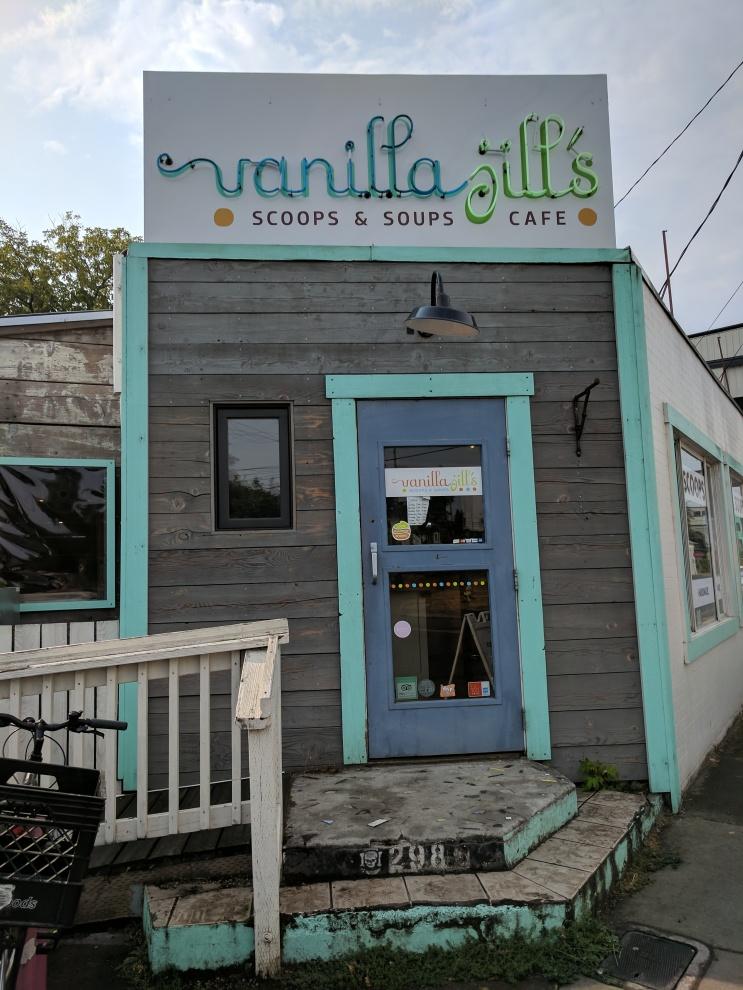 Vanilla Jill's Ice Cream Shop in Eugene, Oregon.