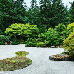 Japanese Gardens in Portland, Oregon.