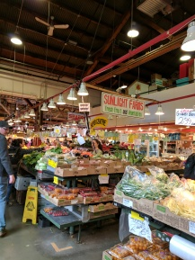 Inside the Public Market in Vancouver.