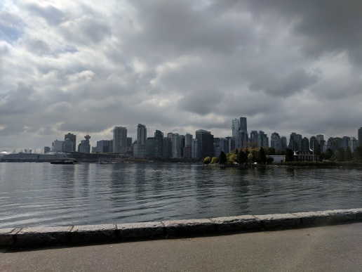 View of Vancouver from the bike trail.