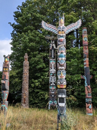 Totems in the park in Vancouver