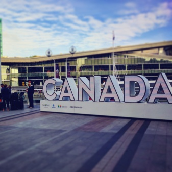 Canada sign in Vancouver/