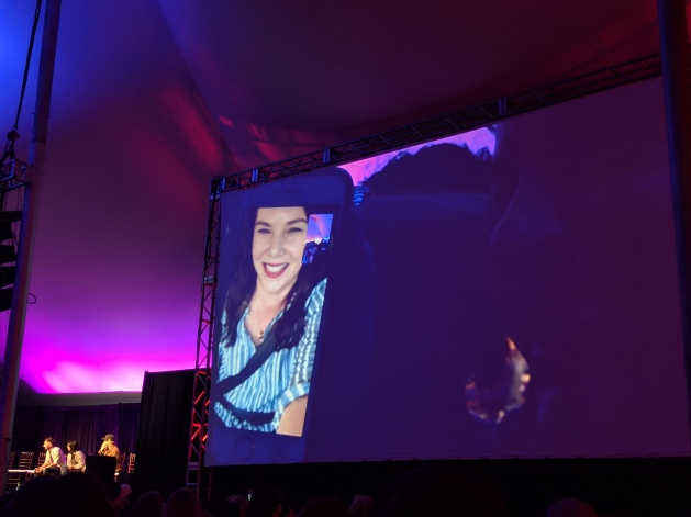 Lauren Graham FaceTiming the crowd at the Gilmore Girls Festival.