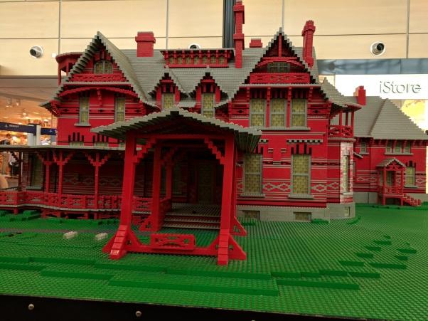 Mark Twain's house made of Legos.