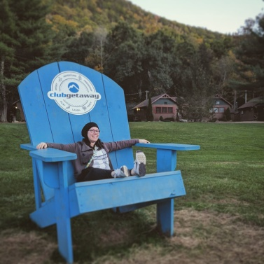 Me, in a giant chair at Club Getaway in Kent. CT.